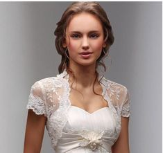 Free shipping, $10.15/Piece:buy wholesale 2015 Charming Newly Fancy Short Sleeves White/Ivory Wedding Jacket Lace Shawl Bolero Bridal Wrap Custom Made from DHgate.com,get worldwide delivery and buyer protection service.
