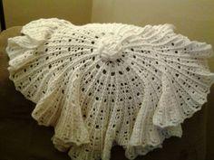 Crocheted christening blanket