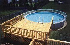 24 39 Round Pool Deck Plans Pool Decks Pool Ideas