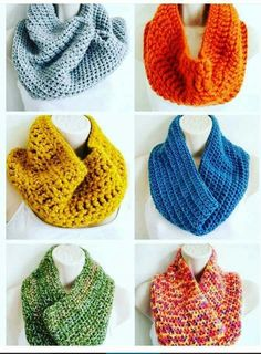 imágenes sobre Bufandas tejidas a Crochet. en Pinterest | Bufandas ...