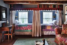 A Collection of 10 Dreamy Bedrooms - Town & Country Living -- wouldn't this be cute in a girls' room.
