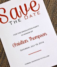 Graduation Save The Date by invitationsbydannye on Etsy