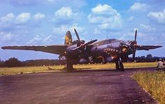 What a great paint scheme on this B-26 Marauder.