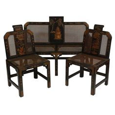 Chinoiserie Drawing Room / Parlor Set | From a unique collection of antique and modern living room sets at https://www.1stdibs.com/furniture/seating/living-room-sets/