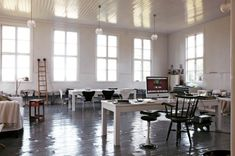 Swedish school building turned into a lovely loft style home From: Elle Decoration Sweden, photo Martin Löf