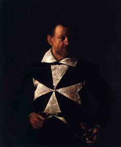 Portrait of a Maltese Knight, Caravaggio — Bestarts.org