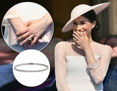 Meghan Markle's garden party bracelet closely resembles a Cartier white gold and diamond bracelet - [Getty] Cartier Bracelet, Diamond Bracelets, Kate Middleton Jewelry, Modern Jewelry, Fine Jewelry, Meghan Markle Outfits, Princess Diana Family, Royal Jewelry, Jewellery