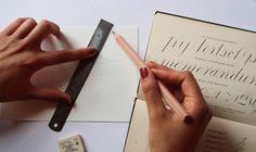 Hand lettering tutorial by Gemma O'Brien. http://apairandasparediy.com/2013/04/diy-hand-lettering.html