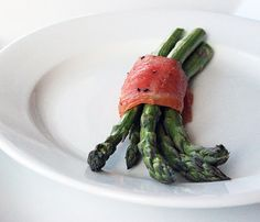 Healthy Asparagus and Salmon Snack | POPSUGAR Fitness