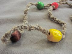 Specter  Wood Beaded Long Hemp Necklace by ecocreations on Etsy
