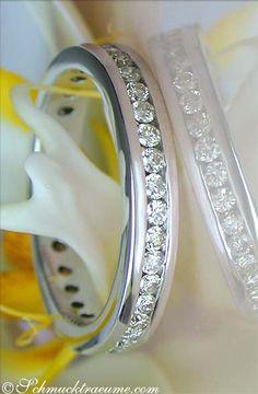 Timeless: Diamond Eternity Ring, 1,15 cts. h-si, WG18K - Find out: schmucktraeume.com - Visit us on FB: https://www.facebook.com/pages/Noble-Juwelen/150871984924926
