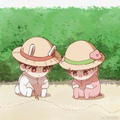 Fanart, Cute Anime Chibi, Boy Art, Doujinshi, Luigi, Webtoon, Mario, Kawaii, Drawings
