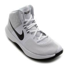 12051475517 Tênis Cano Alto Nike Air Precision Masculino - Branco - Compre Agora