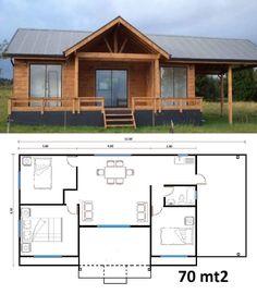 Planos de cabañas pequeñas Casas rusticas #casasdecampominimalistas