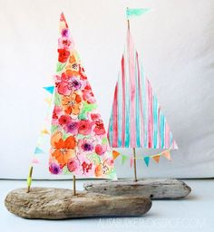 Kids Craft - Delightful Driftwood Boats !