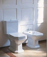 Duravit GPF (Water Efficient) Elongated Two-Piece Toilet (Seat Not Included) Bidet, Two Piece Toilets, Bathroom Makeover, Elegant Bathroom, Small Bathroom, Bathroom Renovations, Toilet, Duravit, Bathroom Decor