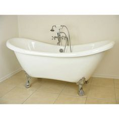 This would be oil rubbed bronze Randolph Morris Acrylic White Clawfoot Tub RMA70DS0WLPC Chrome Feet $1080