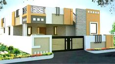 Trends For Design Modern House Front View Single Floor Simple House Exterior Design, House Front Wall Design, Single Floor House Design, Village House Design, Bungalow House Design, Duplex House, Front Elevation Designs, House Elevation, Building Elevation