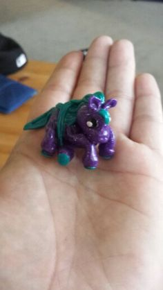 Clay my little pony, Sparkling Purple clay, Pear Green clay, Black clay and white clay, create then back for 45 mins at 275 or as directed on your clay