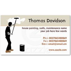 Cool Professional Painter Business Card | Painter Business Cards ...