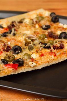 maniapieczenia: Ekspresowe ciasto do pizzy (bez wyrastania!) Vegetable Pizza, Pierogi, Food And Drink, Vegetables, Cooking, Kochen, Vegetable Recipes, Vegetarian Pizza, Brewing