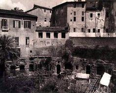 """Orti nei Mercati di Traiano prima dell'intervento """"mussoliniano""""..."""