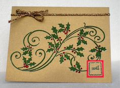 CCC10 Holly Flourish by susanbri - Cards and Paper Crafts at Splitcoaststampers