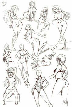 Drawing Skills, Drawing Poses, Drawing Techniques, Drawing Sketches, Art Drawings, Female Drawing, Body Drawing, Life Drawing, Figure Sketching