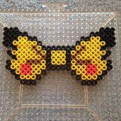 Pikachu bow perler beads by Emily Silva