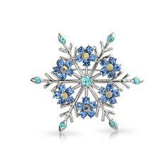Blue Snowflakes Pin at BlingJewelry.com