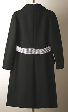 Norman Norell Cocktail Coat and Dress - Coat Back - 1968