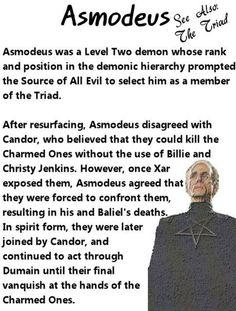 Charmed Series Book of Shadows: Asmodeus » Metaphysic Study