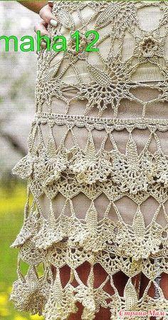 . Бежевое ажурное платье-футляр( по мотивам модели Ванессы Монторо) - Все в ажуре... (вязание крючком) - Страна Мам Crochet Motif, Irish Crochet, Crochet Stitches, Crochet Patterns, Vanessa Montoro, Irish Lace, Crochet Cardigan, Crochet Clothes, Knots