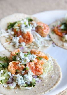 Buffalo Shrimp Tacos These seafood tacos are proof there's no wrong way to use buffalo sauce. Get the recipe: Buffalo Shrimp Tacos Best Fish Taco Recipe, Shrimp Taco Recipes, Fish Recipes, Mexican Food Recipes, Dinner Recipes, Dinner Ideas, Tortilla Recipes, Meal Ideas, Cinco De Mayo