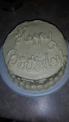 Bday cake for my hubby- choc cake and peanut butter frosting