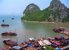 Halong Bay Vietnam Landscape Photography, Vietnam, Travel, Viajes, Destinations, Traveling, Trips, Tourism, Scenery Photography