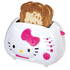 Anyone that knows me knows I love everything Hello Kitty. This toaster I really love! Not only is it the actual toaster look cute, but it makes a Hello Kitty design on your toast! One of the cutest toasters I have ever seen! Hello Kitty Toaster, Chat Hello Kitty, Hello Kitty Items, Hello Kitty House, Hello Kitty Stuff, Hello Kitty Decor, Hello Kitty Birthday, Kitty Kitty, Food Kawaii