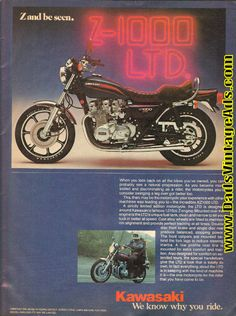 1977 Kawasaki Z-1000 LTD - ''Z and be Seen'' 1-Page Ad