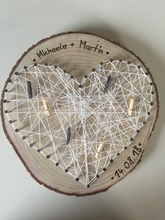 Wedding gift, tree writing, nail heart, white thread with the little . - views , Gift for the wedding tree writing nail heart white thread with the small K. Country Wedding Cakes, Fall Wedding Cakes, Tree Wedding, Wedding Cake Designs, Wedding Cake Toppers, Diy Wedding, Wedding Gifts, Wedding White, Wedding Presents For Newlyweds