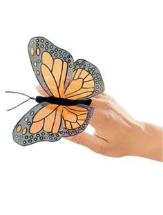 Butterfly Finger Puppet on www.LisaReinicke.com. This cute butterfly puppet goes great with the award-winning book Wings and Feet by Lisa Reinicke.