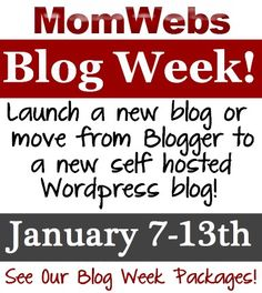 Blog Week Webinar Series: January 7-13th : MomWebs Blog  I'll be on the panel Thursday, 1/12