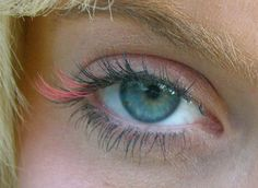 Red eyelash colors ombre eyelashes