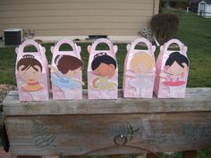 Little Ballerina Gable Favor Boxes Set of 10 by zbrown5 on Etsy, $12.00