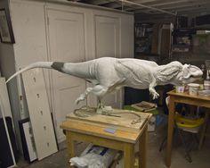 giganotosaurus, clay sculpt Dinosaur Sketch, Dinosaur Art, Prehistoric Wildlife, Prehistoric Creatures, Jurassic World Dinosaurs, Jurassic Park World, Pottery Sculpture, Sculpture Art, Toy Art