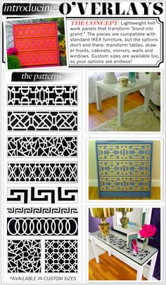 Panels for Ikea furniture....genius! via Kelly Market
