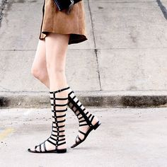 Great strides. @fashion_jackson in the GLADIATOR. Pinned from @StuartWeitzman