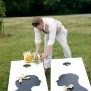 wedding cornhole- game for a couples shower BBQ