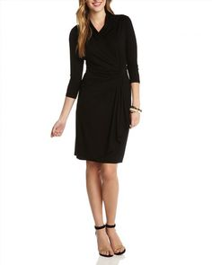 108.00$  Watch now - http://vinxb.justgood.pw/vig/item.php?t=vn9gpk32897 - Karen Kane Cascade Faux Wrap Dress