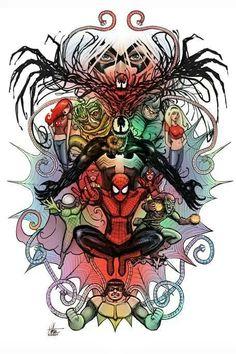 Spider-Man and villians