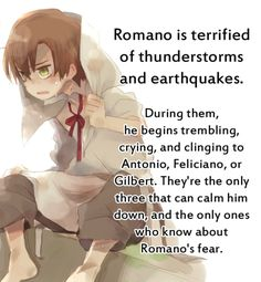 Romano Headcanon- We have the same fears....That new to me